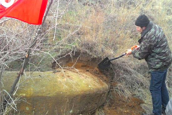 Такой каменный диск обнаружили в Волгоградской области в сентябре 2015 года.
