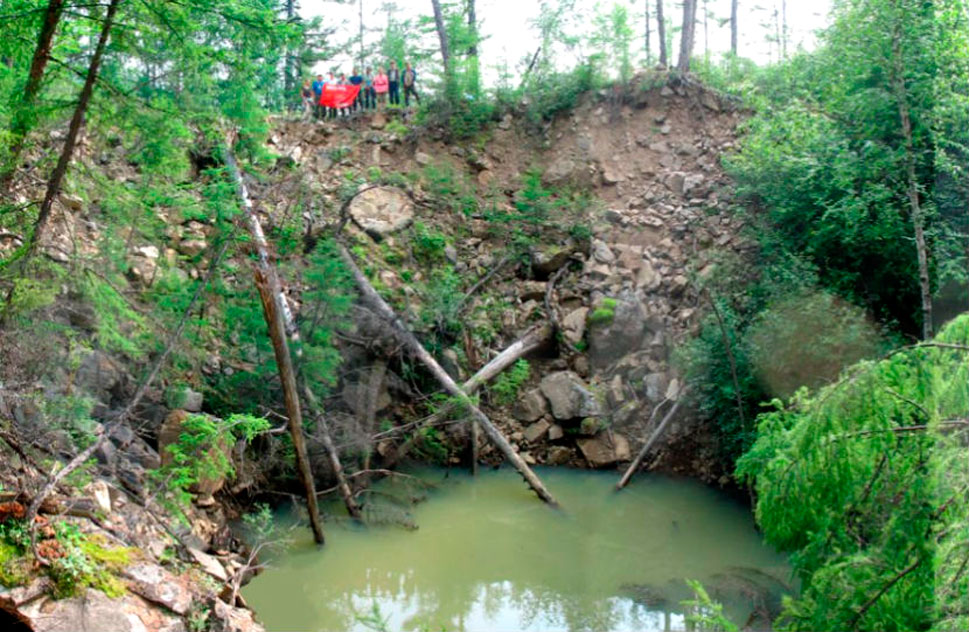 Итакинский кратер в Забайкалье.