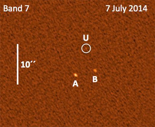 Наблюдение от 7 июля 2014 года. Изображение: ESO