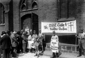 Гитлерюгенд агитирует голосовать за пронацистскую партию «Немецкие христиане»