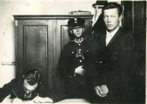 Борис Коверда в полиции после задержания