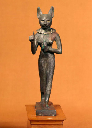 Статуэтка Бает времен позднего Египта - около III века до нашей эры