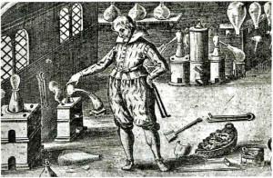 Лаборатория алхимика наводила на непосвященных страх - столько странных предметов в ней было