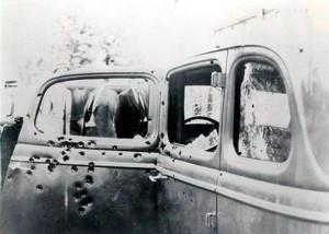 Автомобиль, в котором Бонни и Клайд был расстреляны 23 мая 1934 г. группой техасских рейнджеров, недалеко от г. Гибсланда, Луизиана.