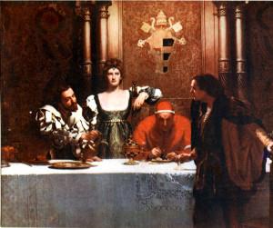 Джон Кольер. «Бокал вина от Чезаре Борджиа». 1893 год