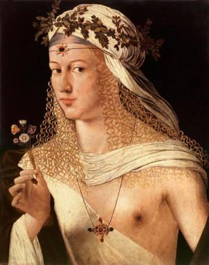 Предполагаемый портрет Лукреции в образе Флоры