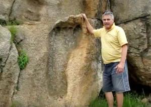 Огромный человеческий след, обнаруженный в Танзании