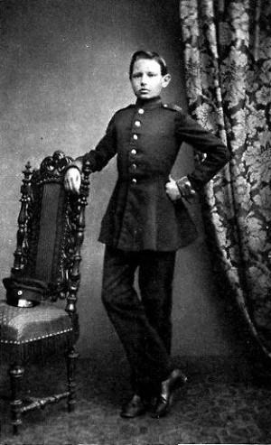 Пауль Гинденбург в период учебы в кадетском училище