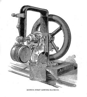 Первая швейная машина Элиаса Хоу. 1845 год