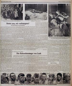 В нацистской газете Völkischer Beobachter использованы фотографии Associated Press фотографа Franz Roth. Фото: AP