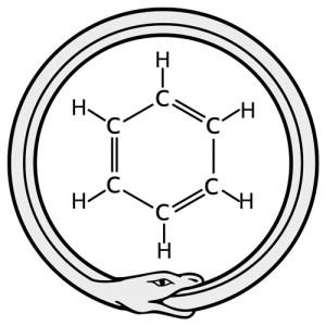 Зарисовка сна немецкого химика Фридриха Августа Кекуле - бензольное кольцо