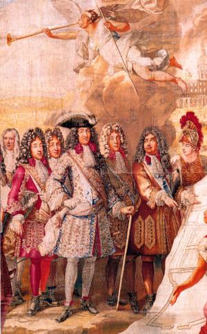 Королю Людовику XIV представляют план будущего Дома инвалидов