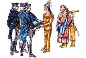Передача индейцам зараженных оспой одеял