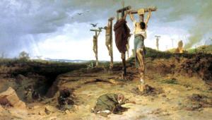 Рим казнил бунтовщиков без всякой пощады - около б тысяч человек были распяты
