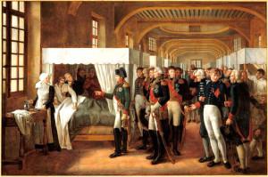 При жизни Наполеон не раз навещал Дом инвалидов, отдавая долг уважения ветеранам своих бесконечных войн