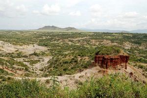 Вид на ущелье Олдувай