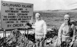 Остров Гринард в Северном море, где проводились эксперименты с бактериями сибирской язвы