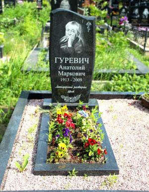 Могила А. М. Гуревича на Богословском кладбище