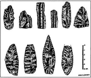 Кремневые наконечники копий, найденные в долине Мехико