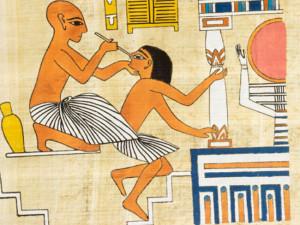В Древнем Египте врачевание находилось на высоком уровне