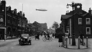Дирижабль R101. Первый полет над городом Бедфорд 14 октября 1929 года