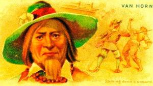 Старинная почтовая открытка с изображением Ван Хоорна