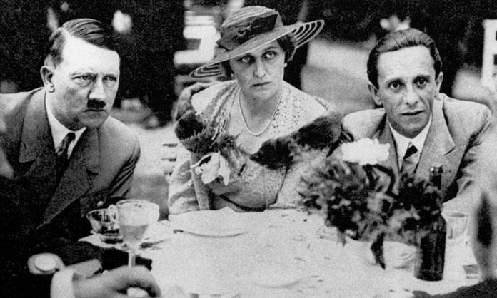 """""""Они оба были очень добры ко мне..."""". Гитлер, Геббельс и его жена Магда."""