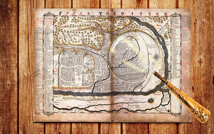 Карта Тобольска, 1700г.Фото: © Wikipedia.org