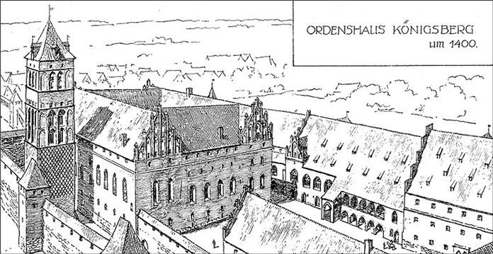 1400-й год. Рисунок из книги Фридриха Ларса «Кёнигсбергский замок».
