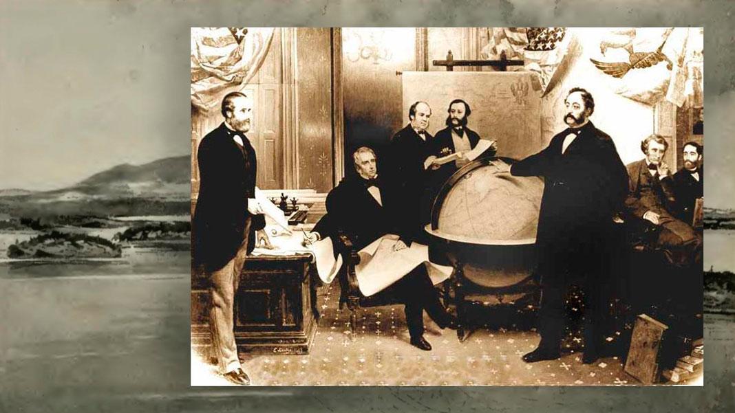 Подписание договора о продаже Аляски 30 марта 1867 года.Коллаж © L!FE. Фото: © wikipedia.org, ©wikimedia.org