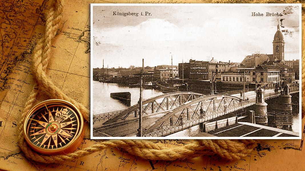 Высокий мост (нем. Hohe Brücke). Построен в 1520 г. Коллаж © HistoryLost.Ru