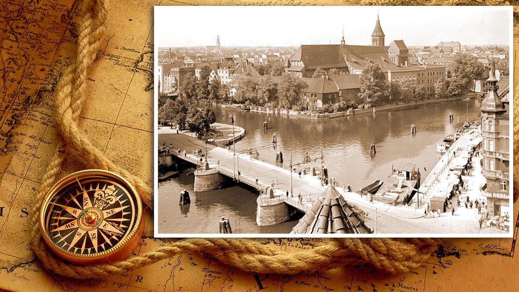 Дровяной мост (нем. Holzbrücke). Построен в 1404 г. Коллаж © HistoryLost.Ru
