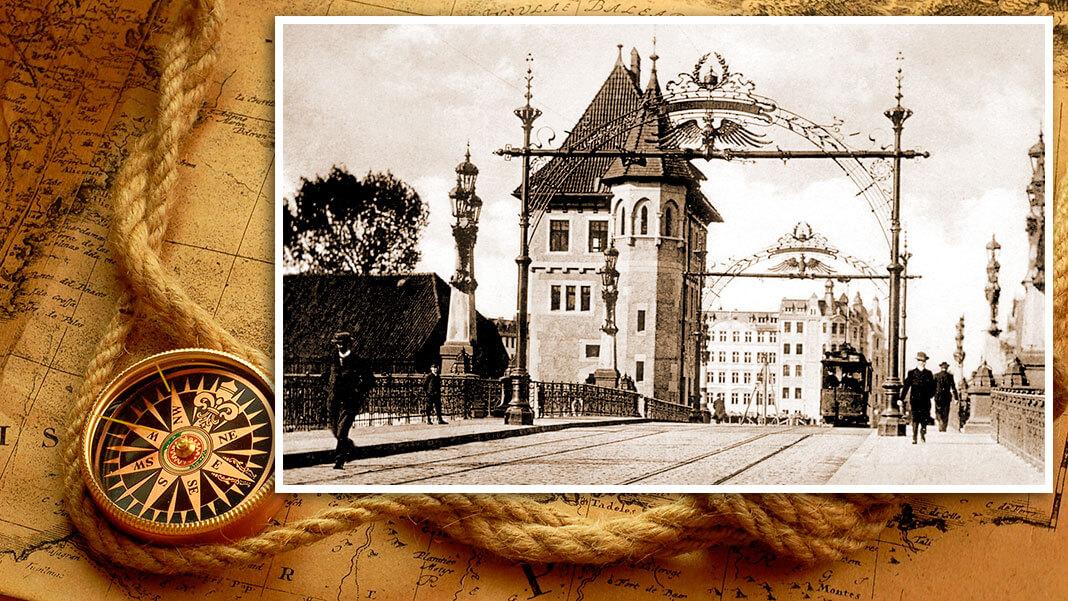 Императорский мост (нем. Kaiserbrücke). Построен в 1905 г. Коллаж © HistoryLost.Ru
