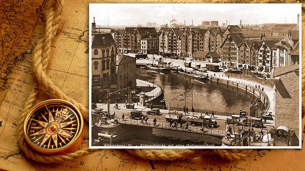 Лавочный мост (нем. Krämerbrücke). Построен в 1286 г. Коллаж © HistoryLost.Ru