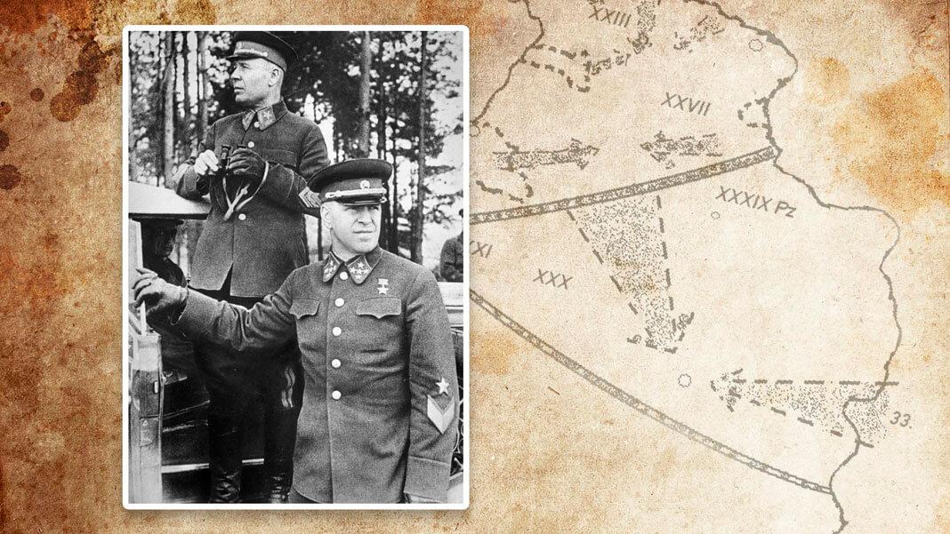 Маршал Советского Союза Семен Тимошенко (слева) и генерал армии Георгий Жуков (справа). Коллаж © L!FE. Фото: © РИА Новости