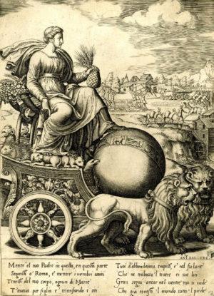 Изображение Реи, Матери богов - одного из древнегреческих вариантов Кибелы