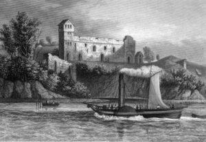 Руины замка Бальга, примерно 1840 г.