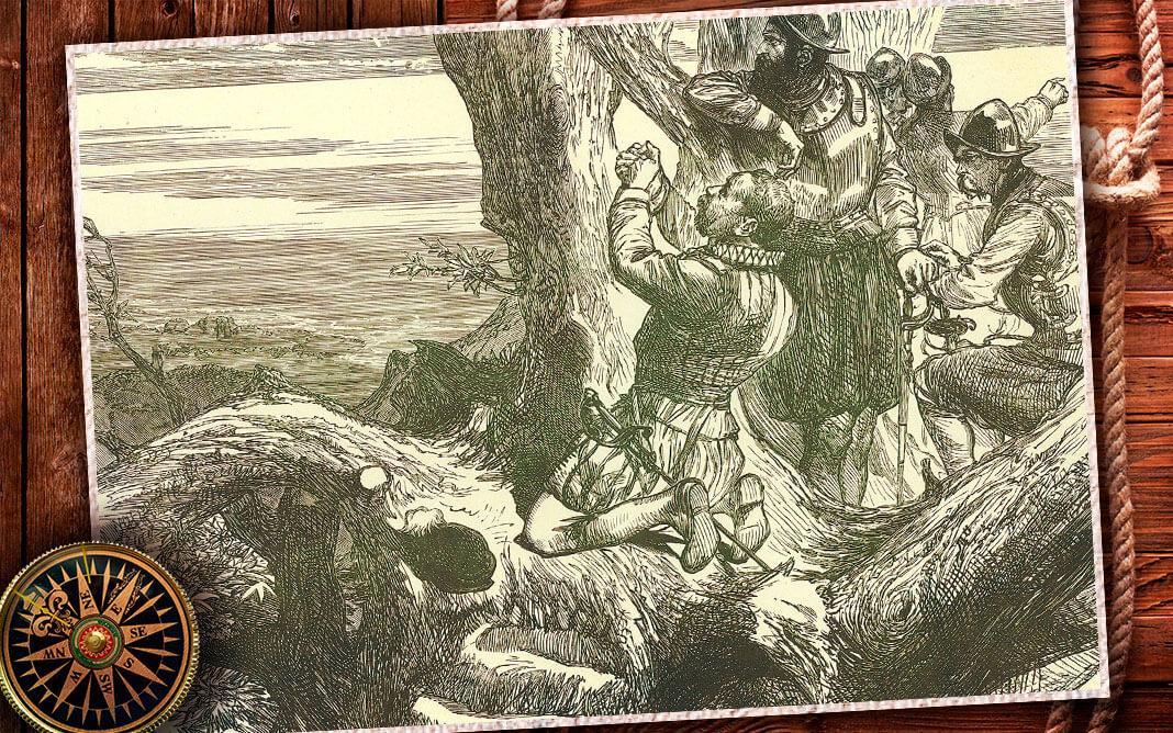 Фрэнсис Дрейк на Панамском перешейке в 1572 г. Коллаж © HistoryLost.Ru. Фото: © Universal History Archive / Universal Images Group / EAST NEWS