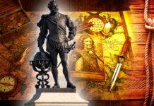 История про мореплавателя, вице-адмирала, первого англичанина, совершившего кругосветное плавание, знаменитого пирата - сэра Фрэнсиса Дрейка