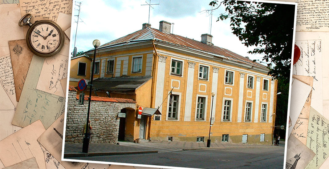 Комендантский дом в Таллине, где в 1742—1752 жил Ганнибал. Коллаж: © HistoryLost.ru. Фото: wikimedia.org