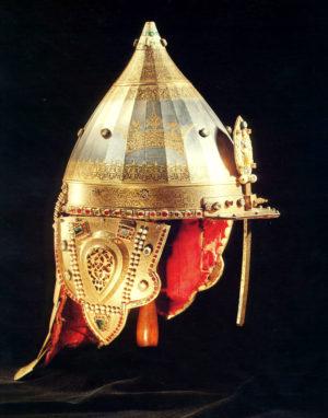Шлем, сделанный в 1621 году мастером Никитой Давыдовым для царя Михаила Федоровича