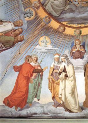В раю Данте ожидала величайшая награда - встреча со своей возлюбленной Беатриче.