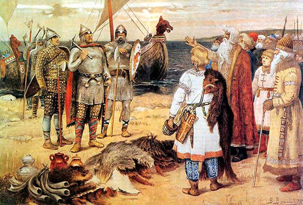 Изображение: «Прибытие Рюрика в Ладогу» В. М. Васнецов.