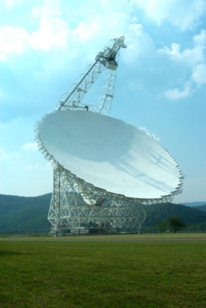 Ныне действующий радиотелескоп Грин-Бэнк