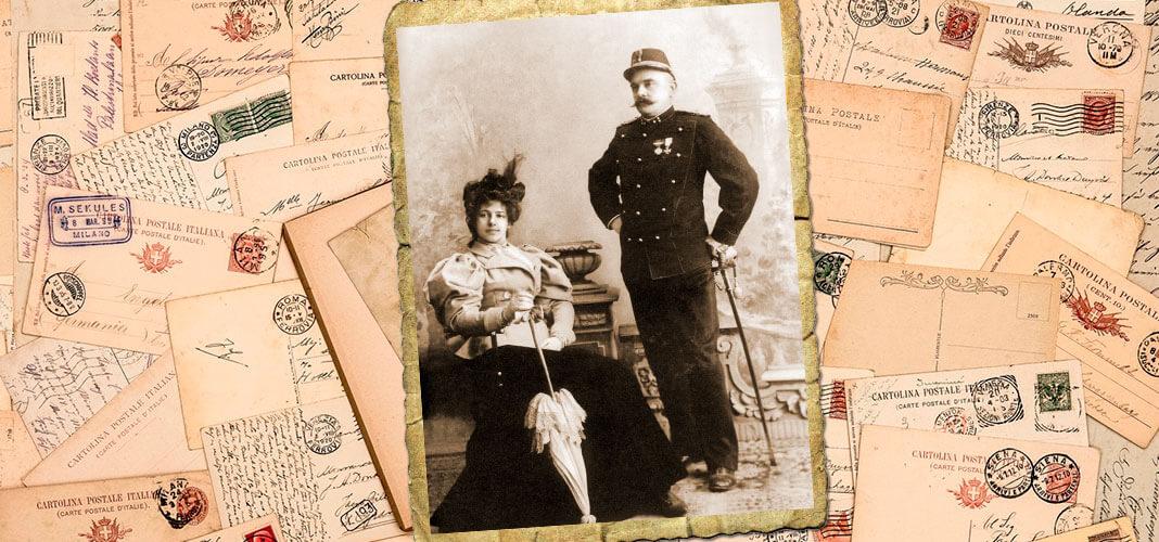 Маргарета Зелле и Рудольф Мак-Леод, 1897 г. Коллаж © HistoryLost.Ru