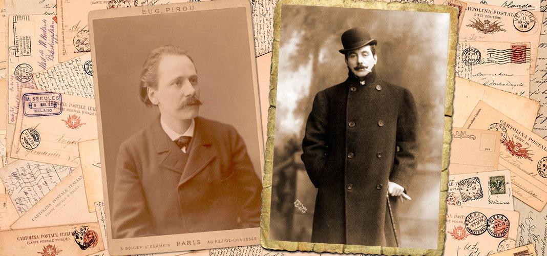 Слева направо: Жюль Массне, 1895 г.; Джакомо Пуччини, 1908 г. Коллаж © HistoryLost.Ru