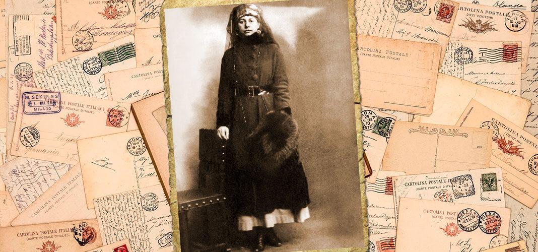 Мата Хари в день ареста, 13.02.1917 г. Коллаж © HistoryLost.Ru