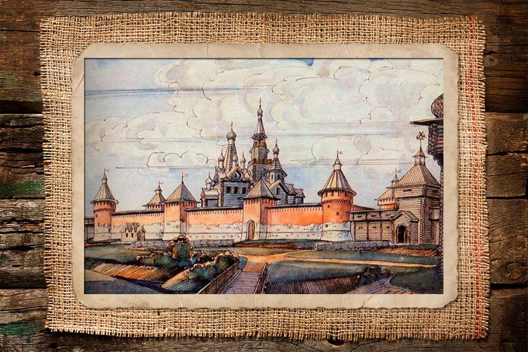 Деревянные или каменные детинцы (кремли) — характерное ядро многих русских городов. Фото: © Wikipedia