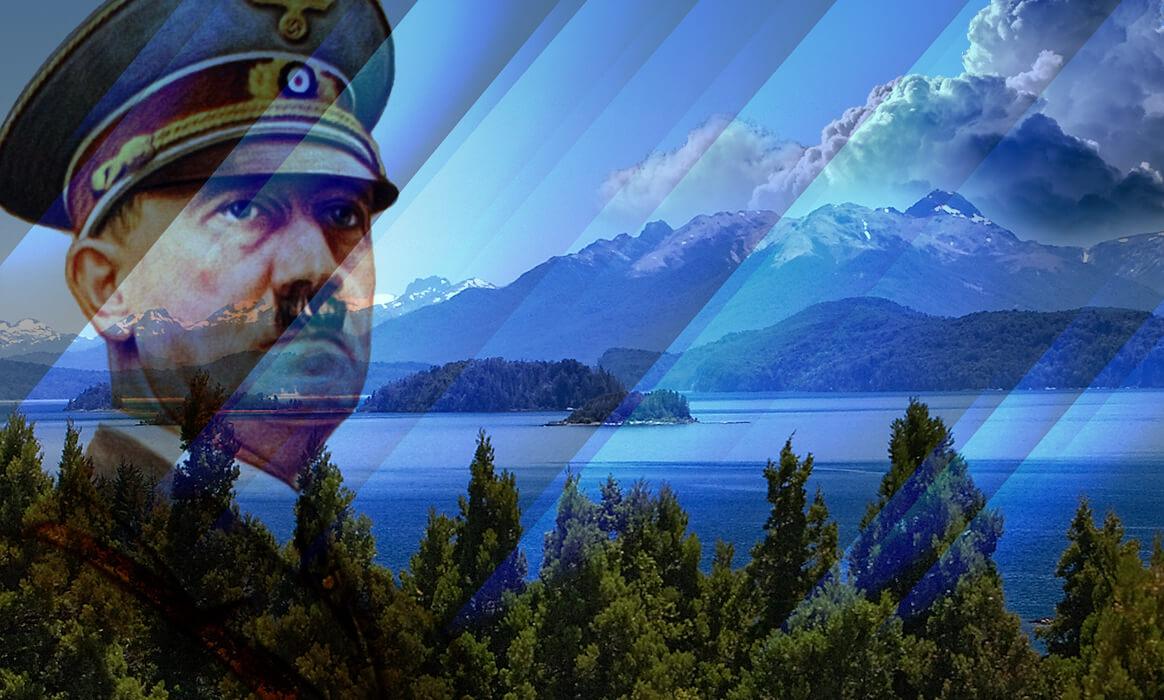 Озеро Науэль-Уапи (Патагония), на берегу которого расположено поместье Иналько, основная резиденция Гитлера в Аргентине. Коллаж: HistoryLost.Ru