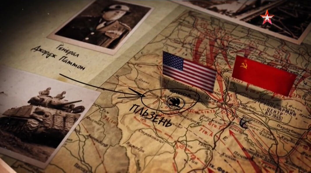 Марш-бросок 16 танковой дивизии США под командованием генерала Паттона на город Пльзень